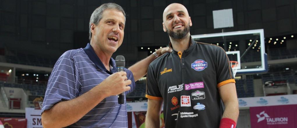 Marcin Gortat i Randy Wittman - trener Washingon Wizards
