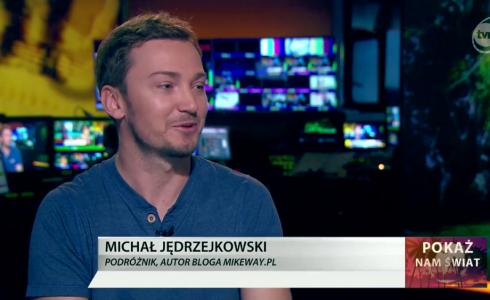 Michał Jędrzejkowski w telewizji TVN